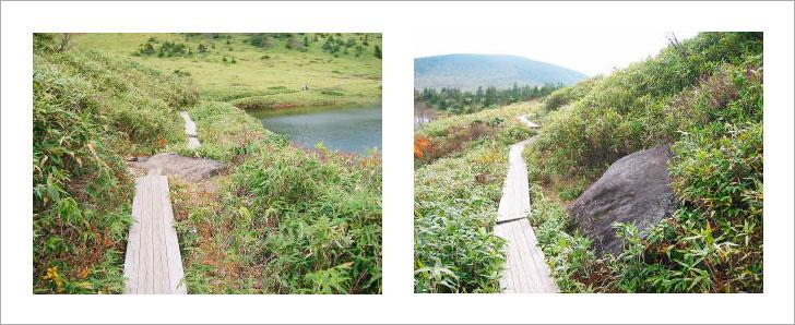 福島県、一切経山鎌沼の散策コース