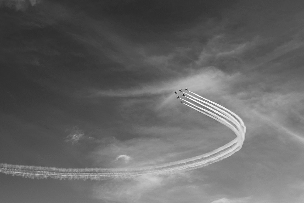 航空ショーの写真