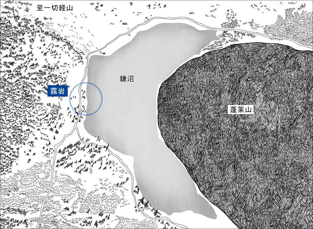 鎌沼周辺の地図