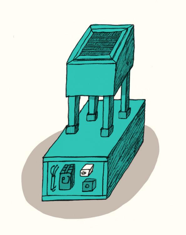 次元上昇機のチューンアップのイラスト