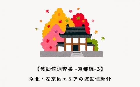 洛北・左京区エリアの波動値紹介