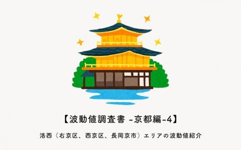 洛西(右京区、西京区、長岡京市)エリアの波動値紹介