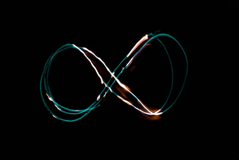 無限大の光の写真