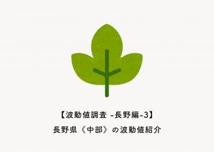 【波動値調査 -長野編-3】長野県《中部》の波動値紹介