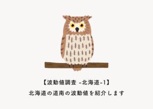【波動値調査 -北海道編-1】北海道の道南の波動値を紹介します